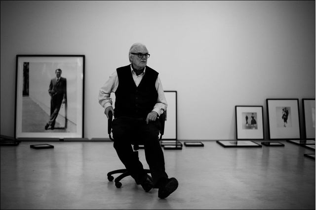 F.C. Gundlach during the hanging of his show at CFA Berlin