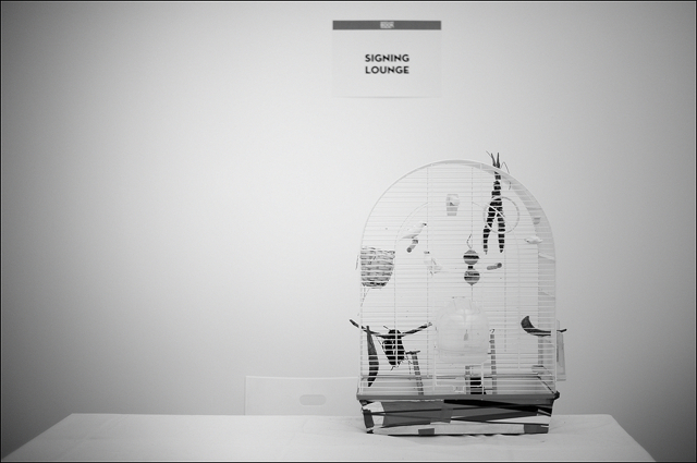 Bird cage of Anouk Kruithof at signing lounge Photo + Art Book Deichtorhallen Hamburg