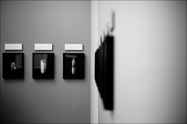 Installation view of Antipersonnel series by Raphael Dallaporta